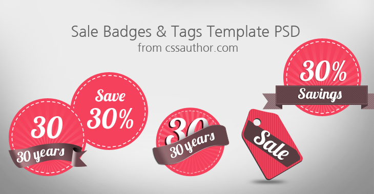 Download Free Sale Badges and Tags Template PSD by Prasad G ...