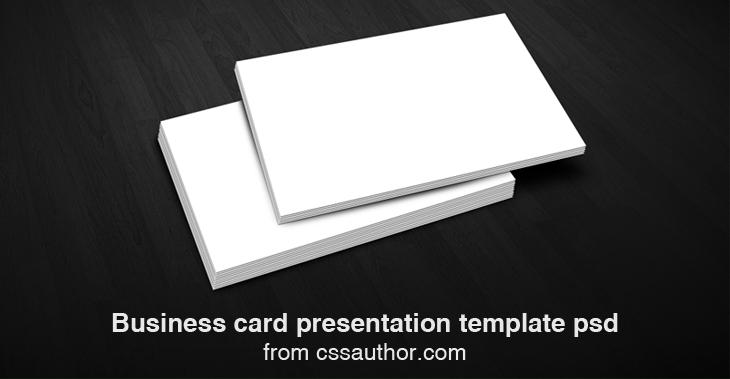 Business Card Presentation Templates PSD By Prasad G (Prechu) At Coroflot.com
