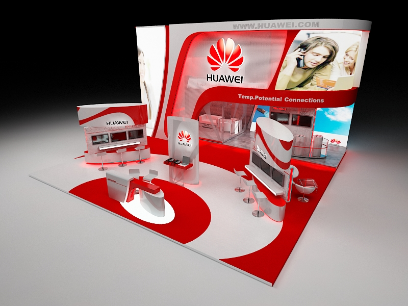 Exhibition Booth Proposal : Huawei booth proposal design by mohamed nashaat at
