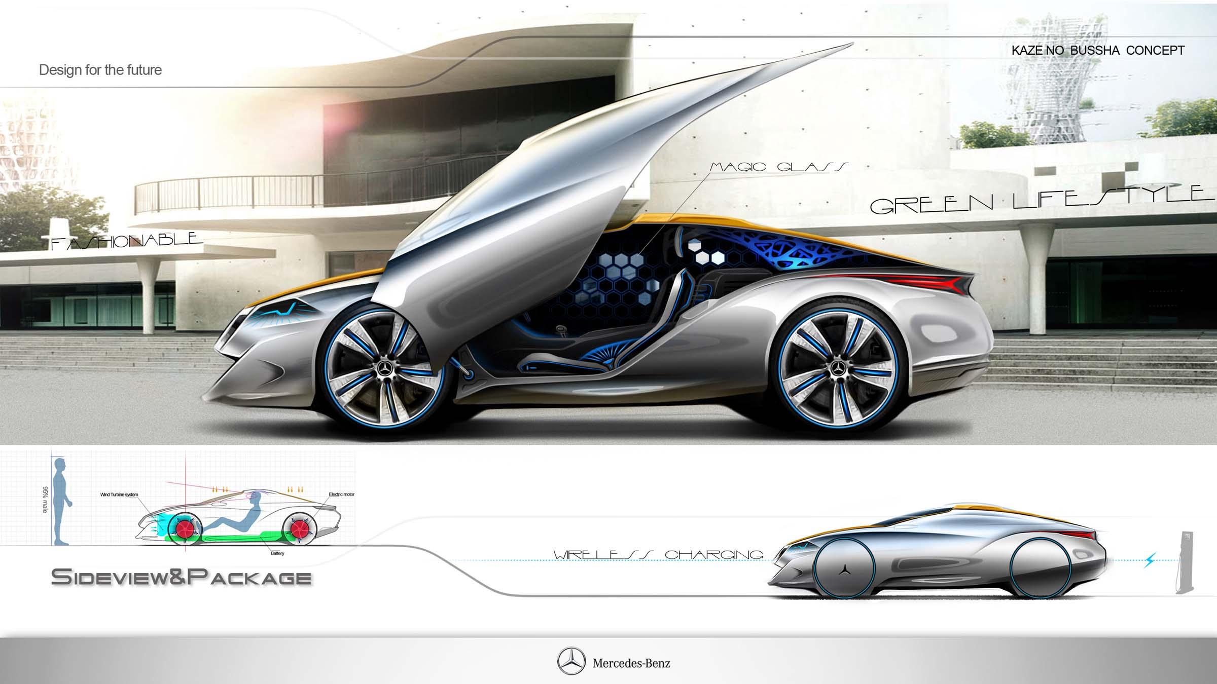 Mercedes benz kazenobusha concept electric vehicle by for Mercedes benz concept electric car