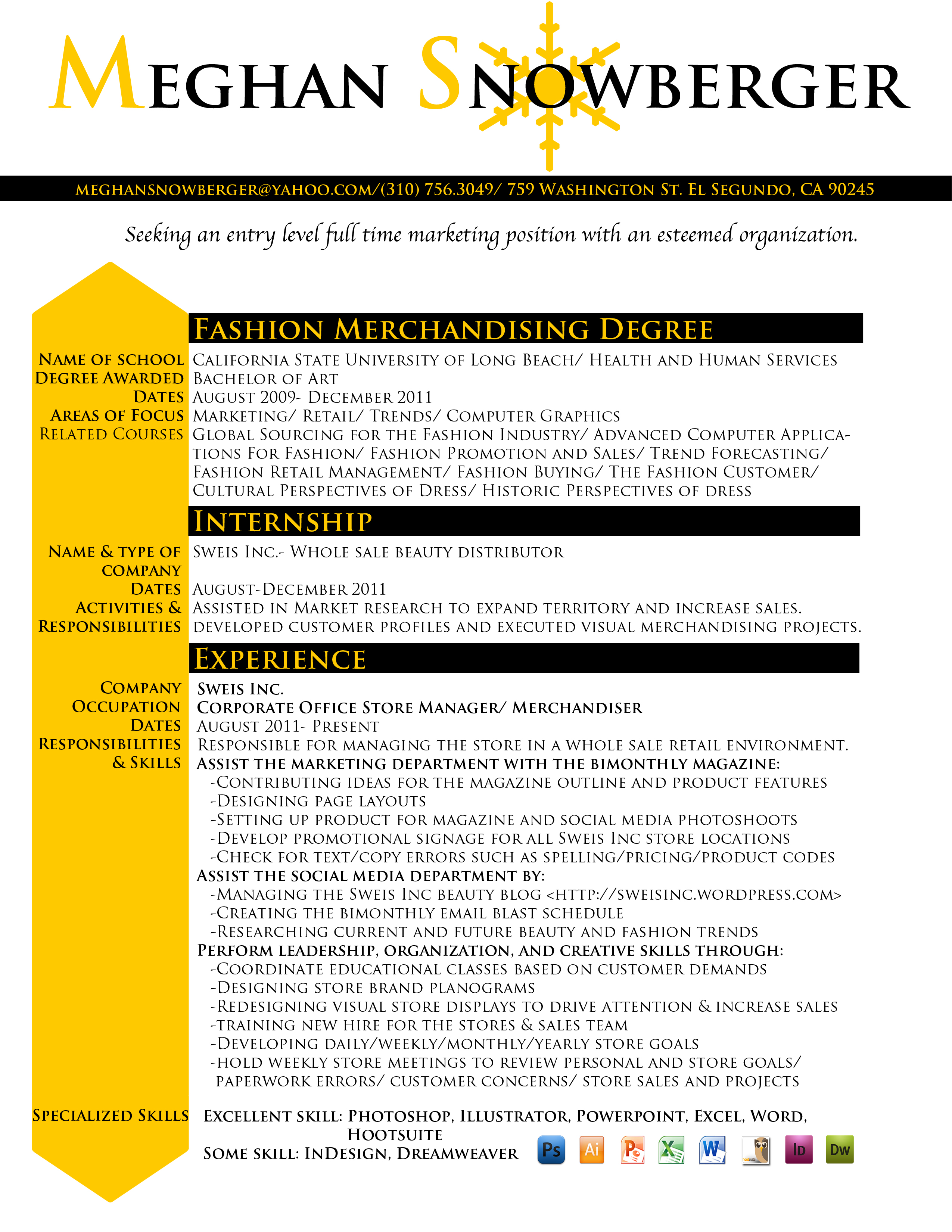 Visual merchandising resume examples