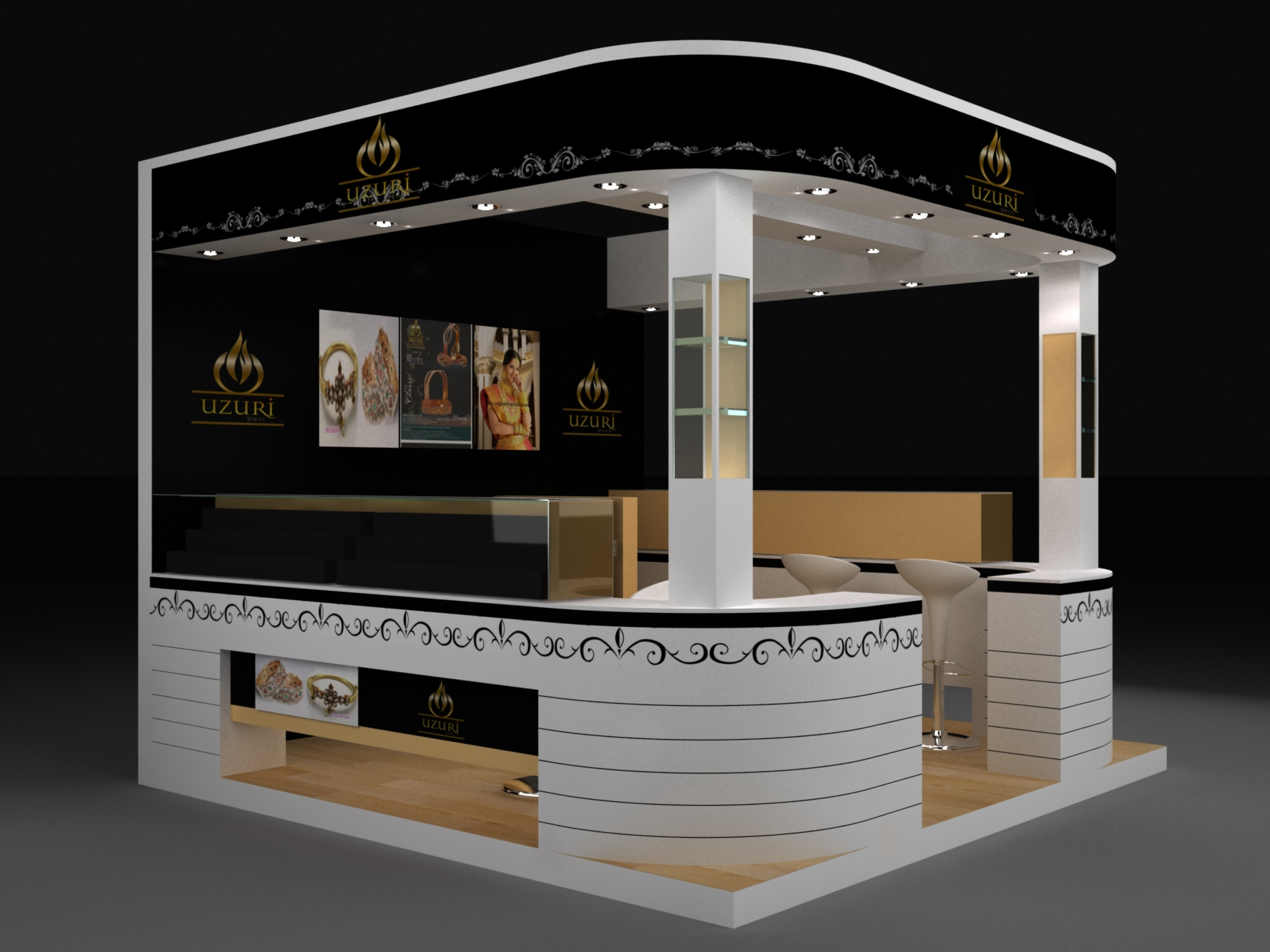 Exhibition Stall Design For Jewellery : Jewellery exhibition stall by vishal champanerkar at