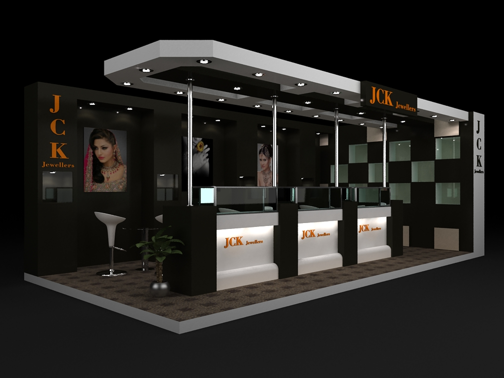 Exhibition Stall Layout : Jewellery exhibition stall by vishal champanerkar at