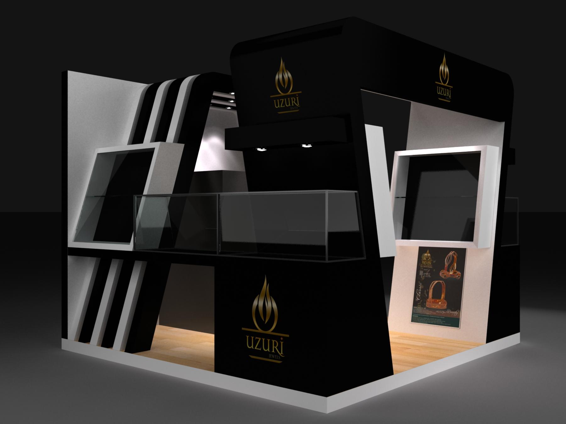 Jewellery Exhibition Stall Design : Jewellery exhibition stall by vishal champanerkar at
