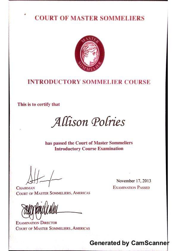sommelier certification introductory coroflot level pdf allison