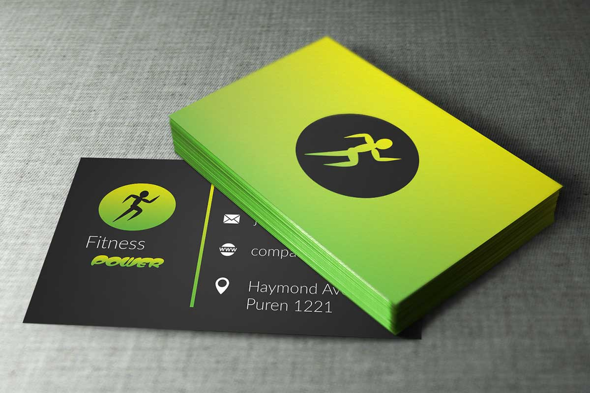 Fitness Business Cards Design by Borce Markoski at Coroflot.com