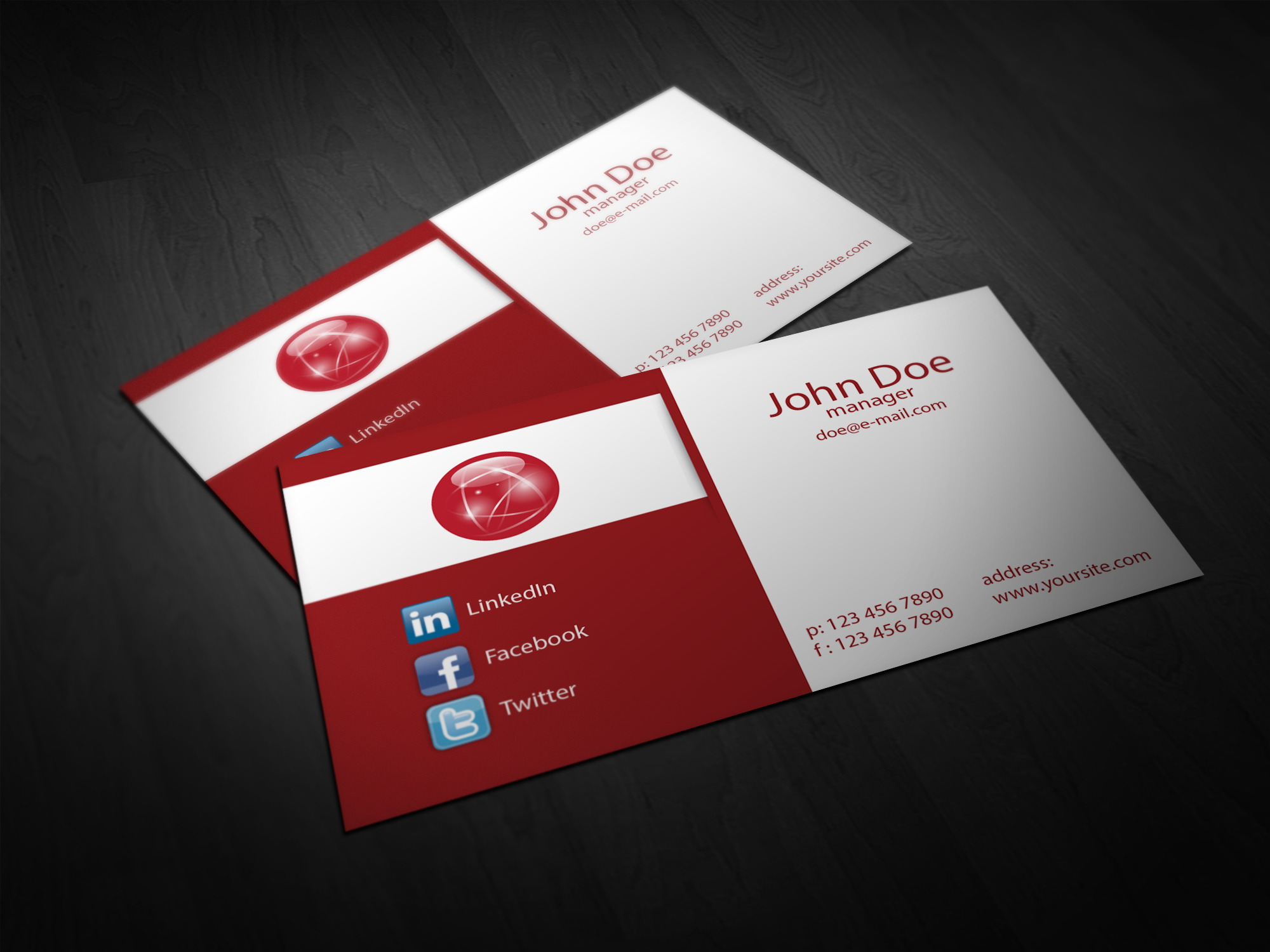 Fitness Instructor Free Business Card Template by Borce Markoski