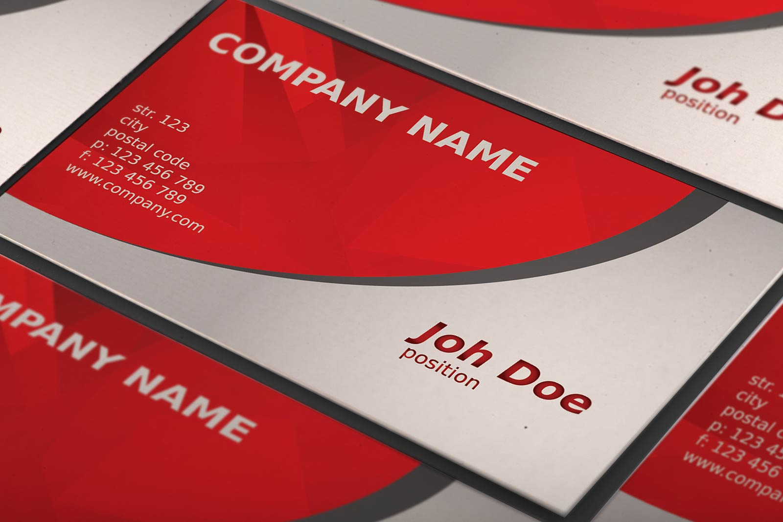 Free Abstract Red Business Card Template by Borce Markoski at ...
