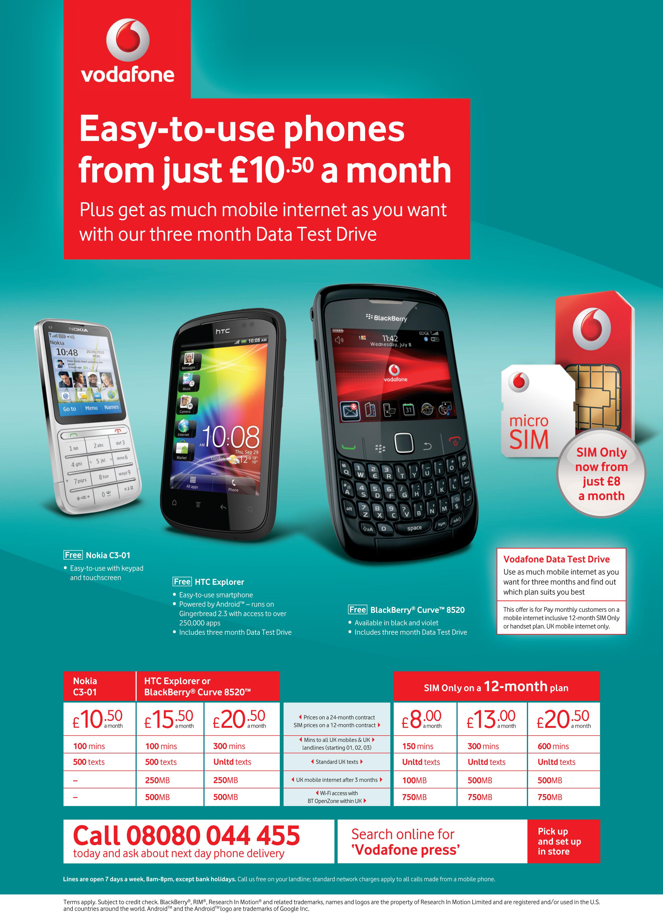 Vodafone Mobile Business Plans