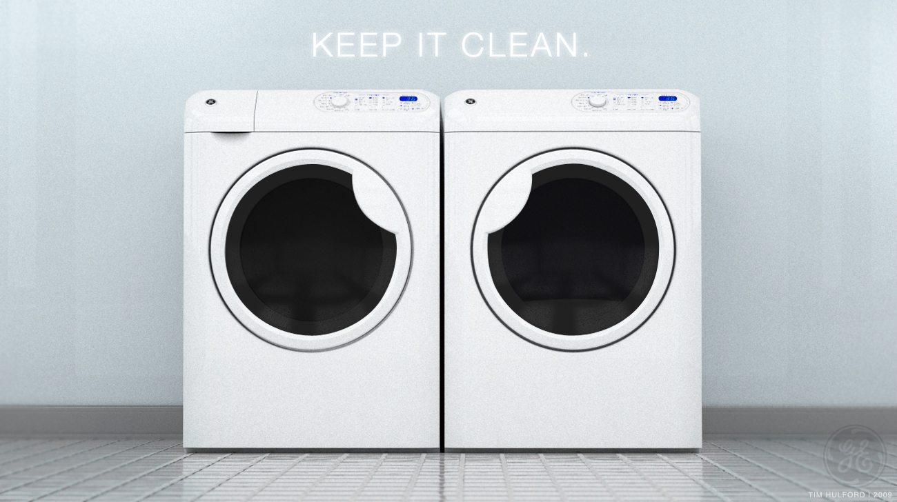 Ge Brand Horizontal Axis Washer And Dryer By Tim Hulford
