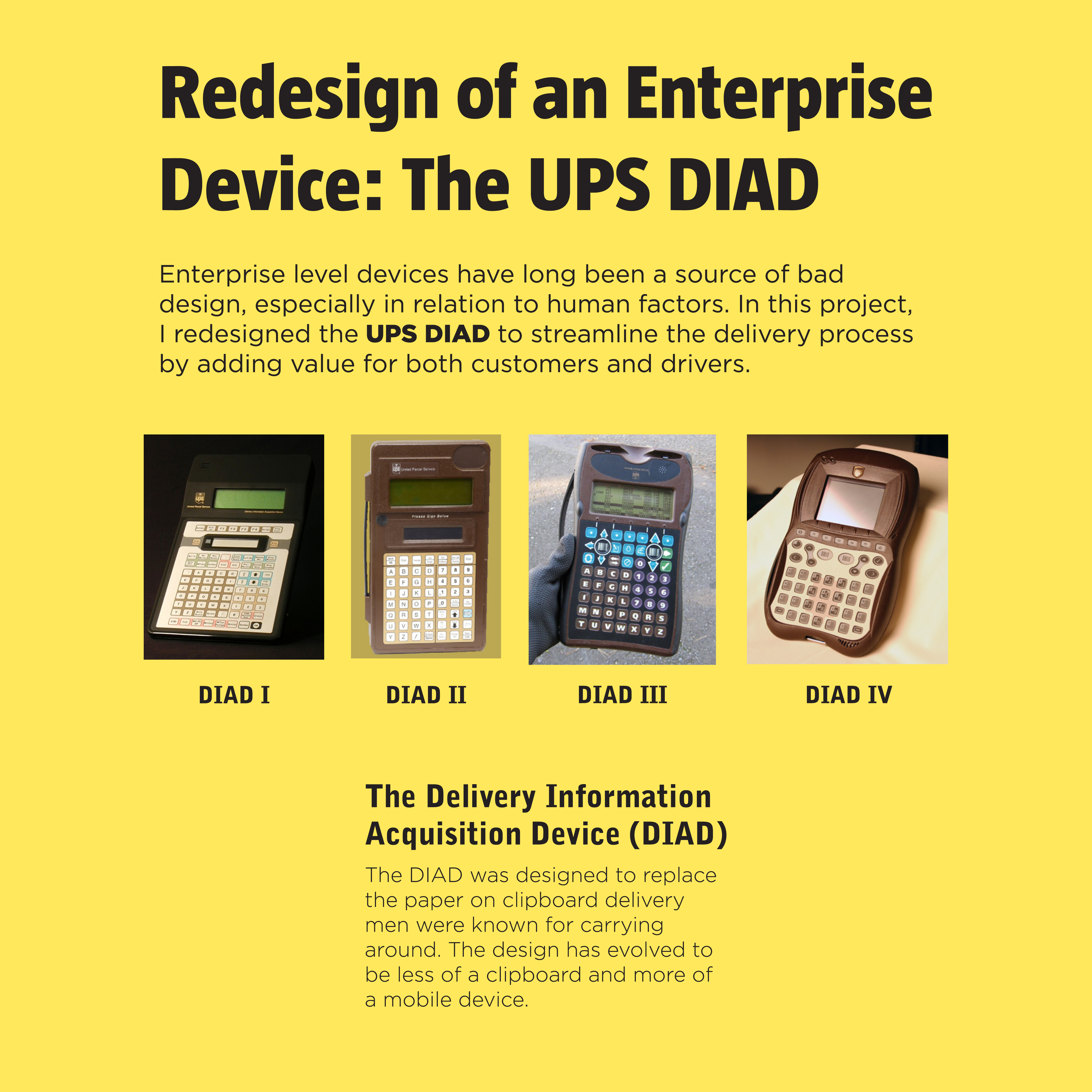 diad delivery information acquisition device essay List the various ways that diad (delivery information acquisition device)  improves customer service diad has improved customer service by.