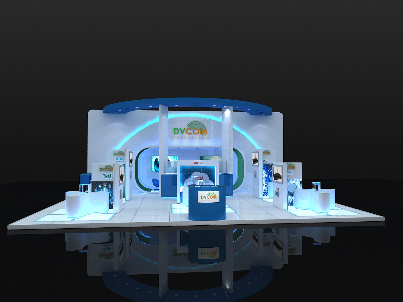 Exhibition Stand Company In Qatar : Hight technology exhibition design dvcom by larah