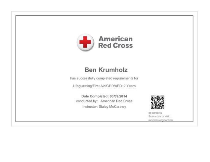 lifeguard certification by ben krumholz at coroflot com