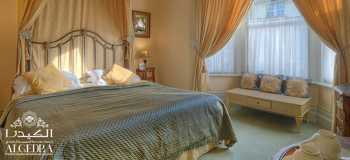 Новый дизайн штор в спальне