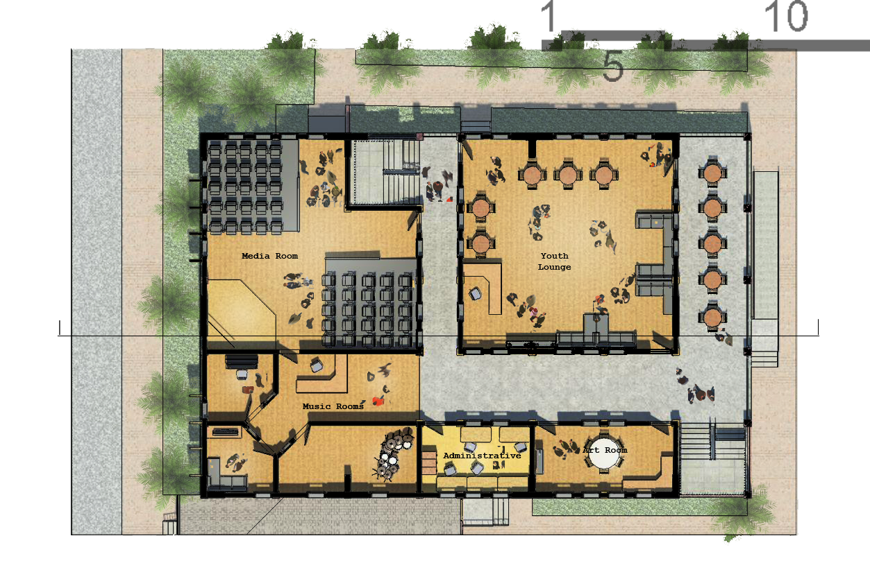 Community center socialized housing by jan paul tomilloso at youth center ground floor plan revit photoshop qview full size jameslax Image collections