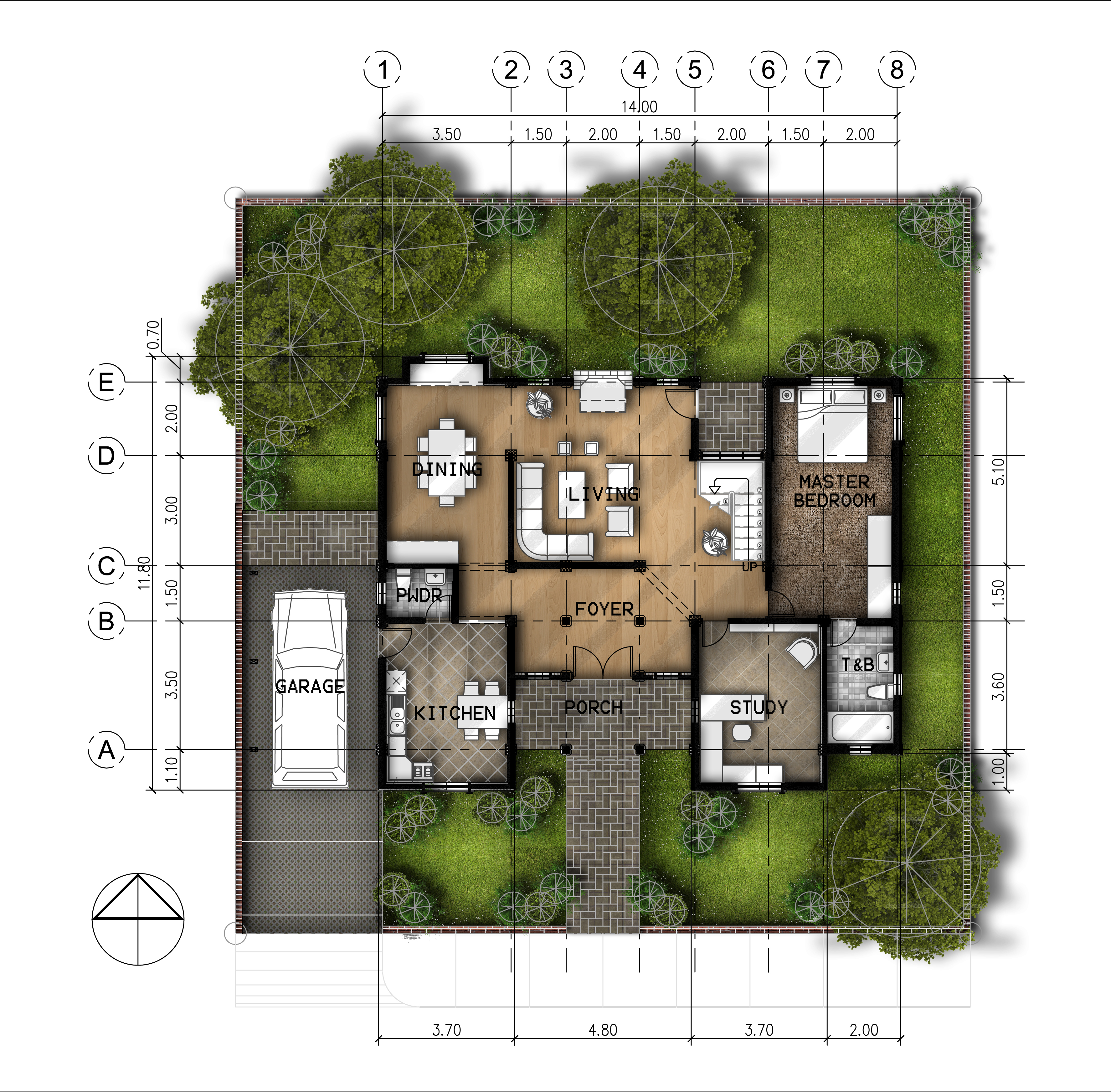 2 story residential by jan paul tomilloso at for Best site for house plans