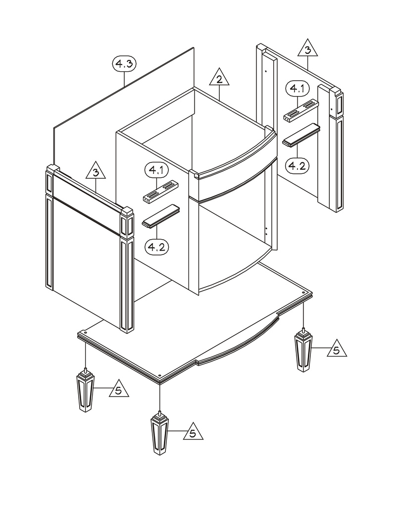 Furniture Assembly Drawings Vanity Assembly Drawing