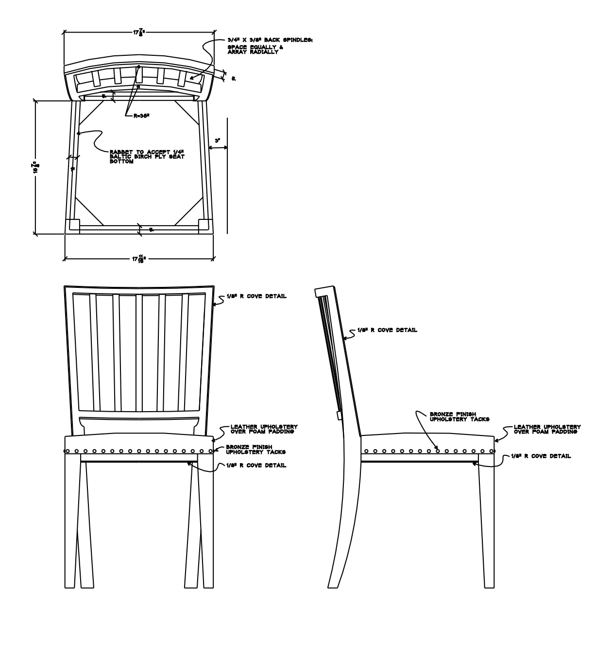 Chair Design Drawings Design Drawing Autocad