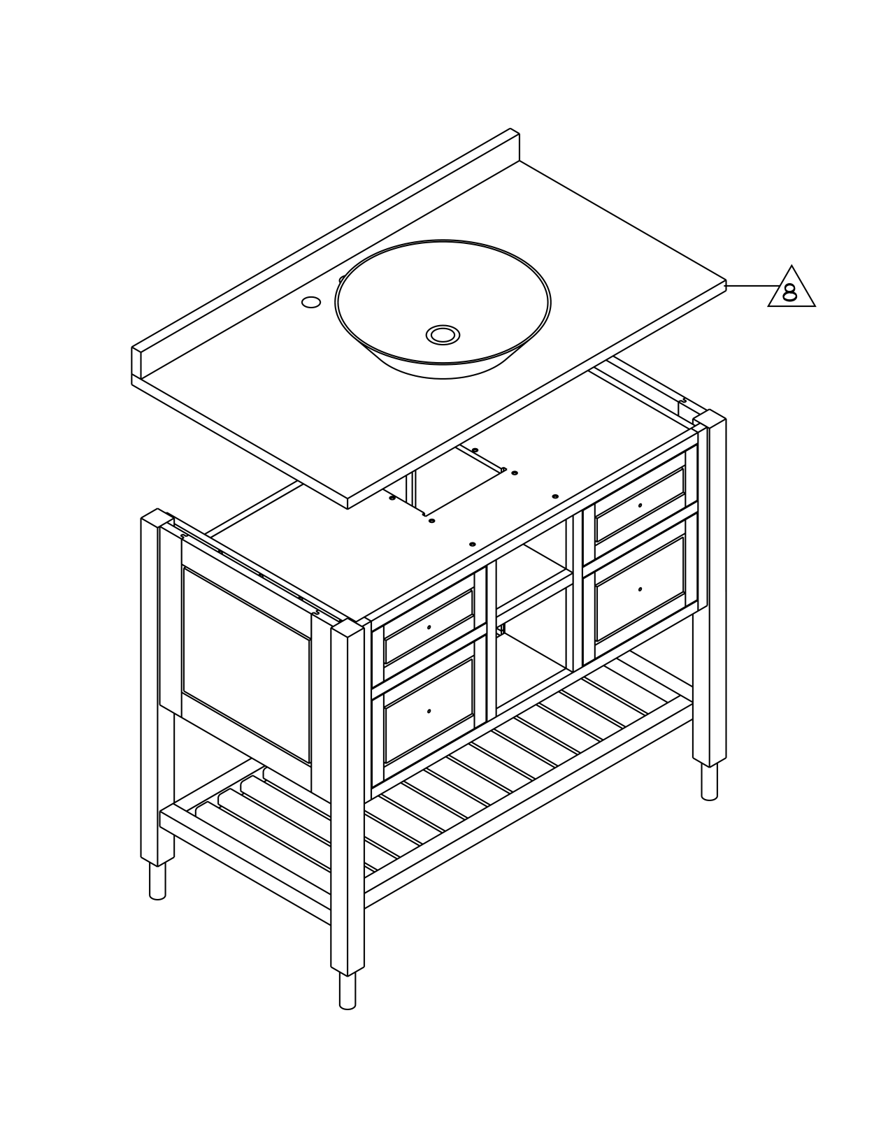 Furniture Assembly Drawings Spa Vanity Assembly Drawing