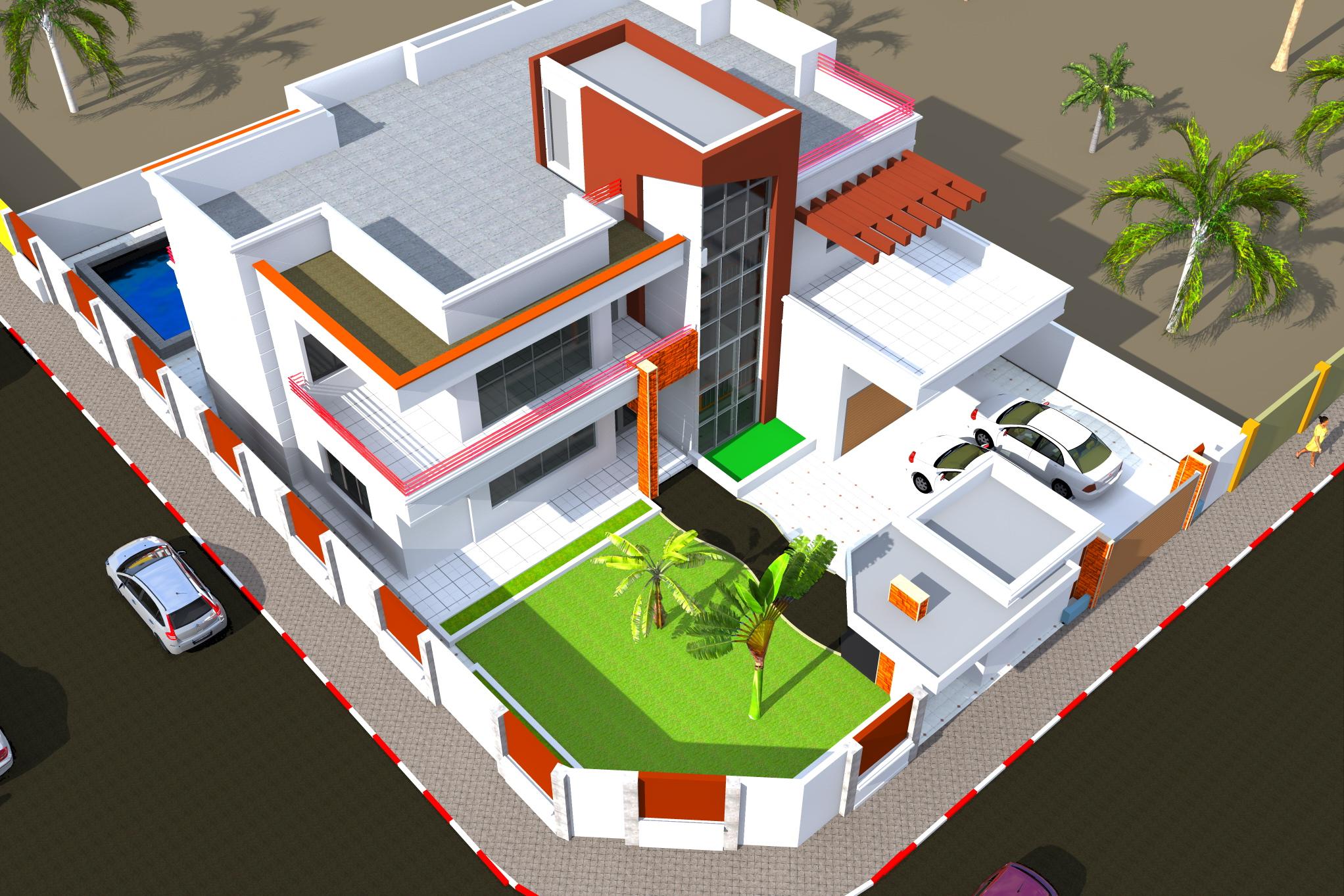 Projet de construction d 39 une villa a abidjan by kwessi for Projet construction