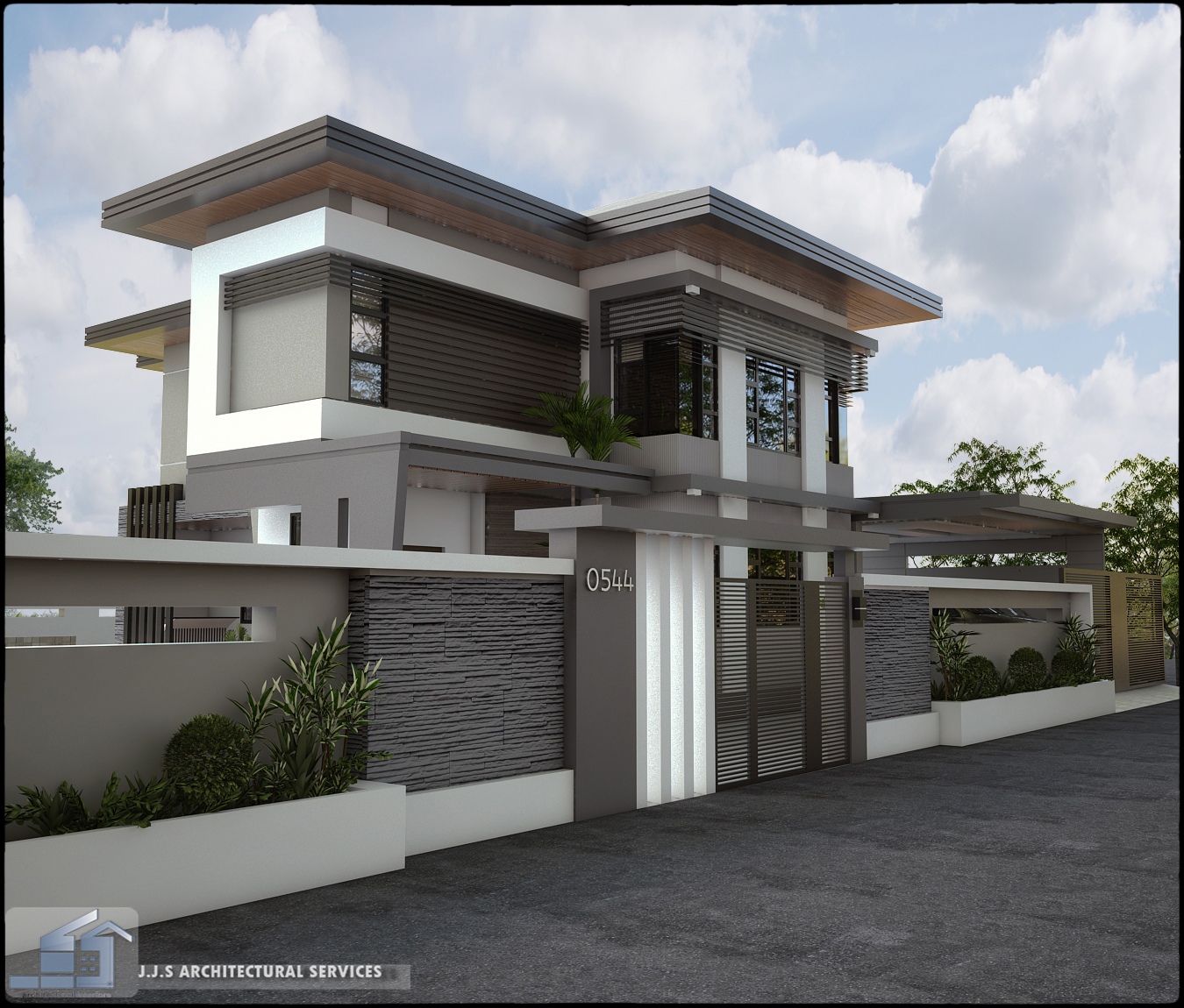 Modern bungalow zen house for Zen modern house design