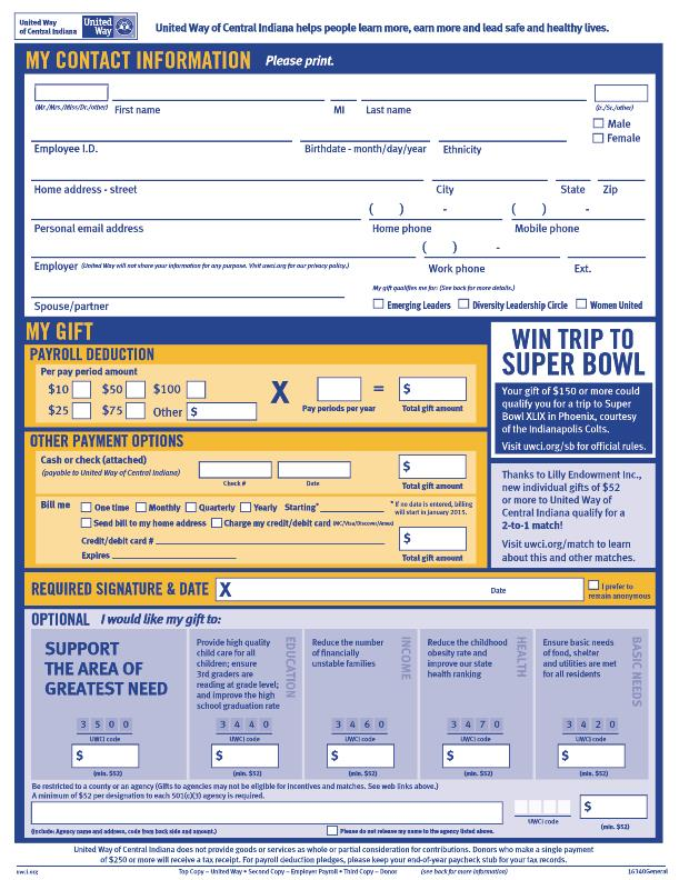 Uwci Pledge Form By Michelle Davis At CoroflotCom