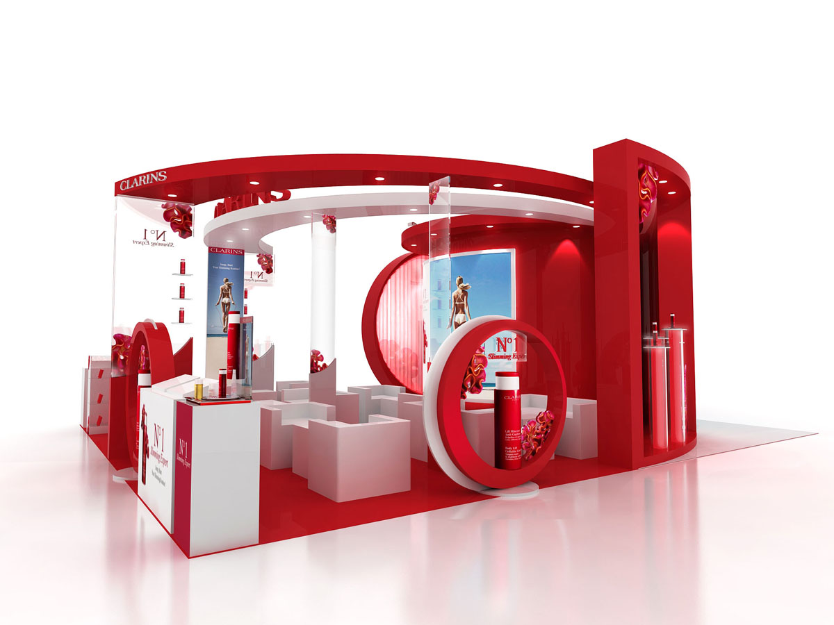 Exhibition Stand Cosmetics : Clarins event by tommy cheung at coroflot