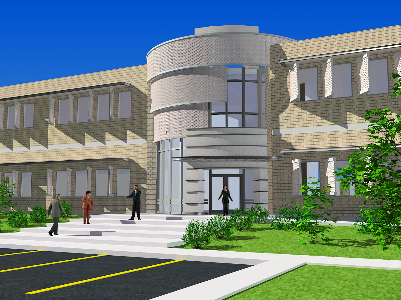 Commercial Architecture Renderings by William Webb ARCHITECT AIA at ...