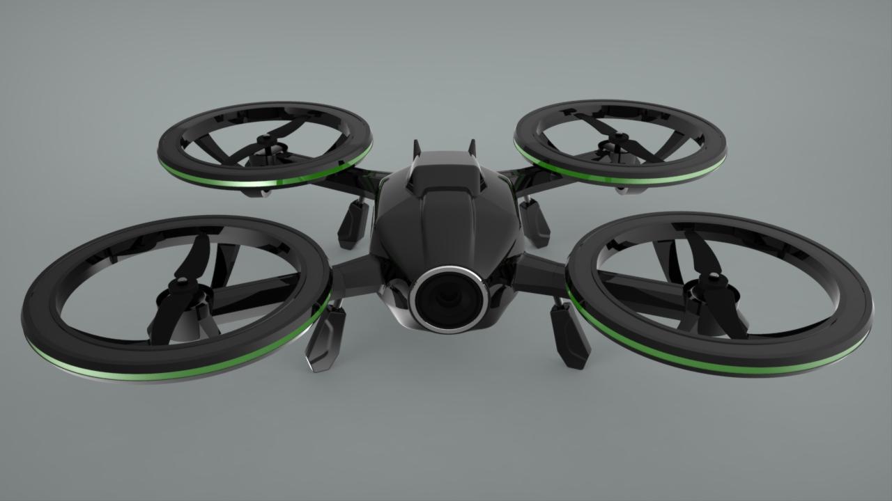 X-Black Drone (Quadcopter) by Ridwan Septyawan at Coroflot.com