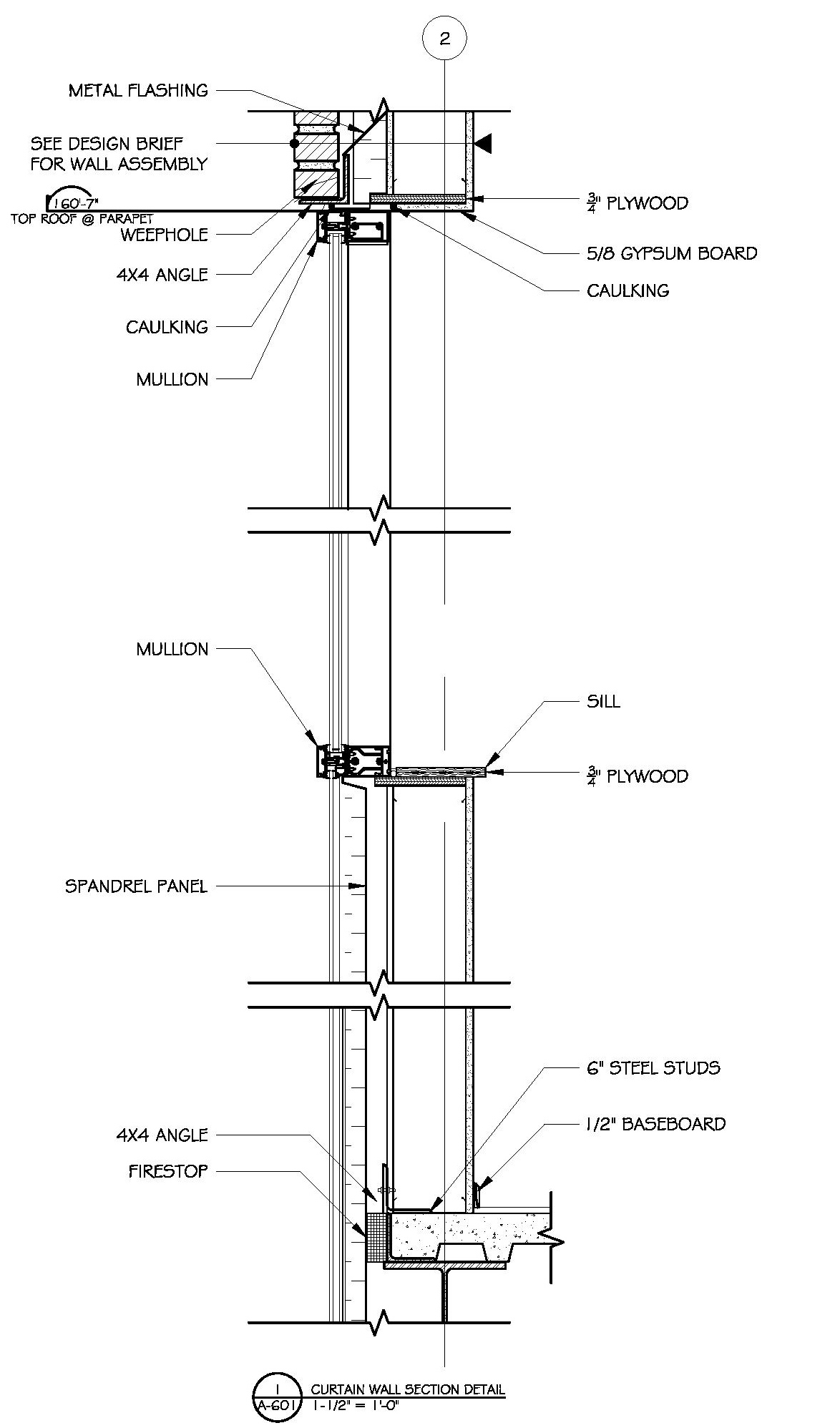 Lovely Curtain Wall Wall Section · Commercial Building Plans By Raymond Alberga At  Coroflot.com