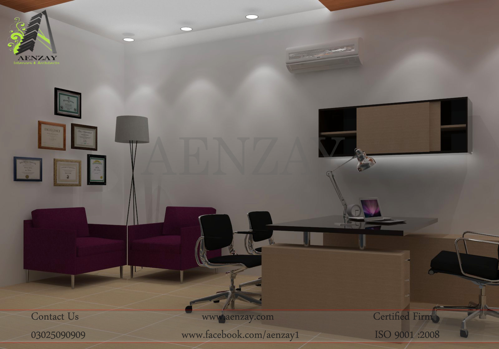 China plates project marketing director office design by for Director office interior design