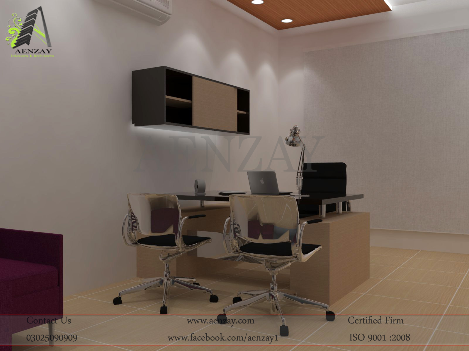 China plates project marketing director office design by for Office design jakarta