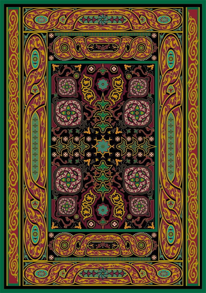 Celtic In Black Textile And Rug Design With Influence An Updated Twist On Tradition
