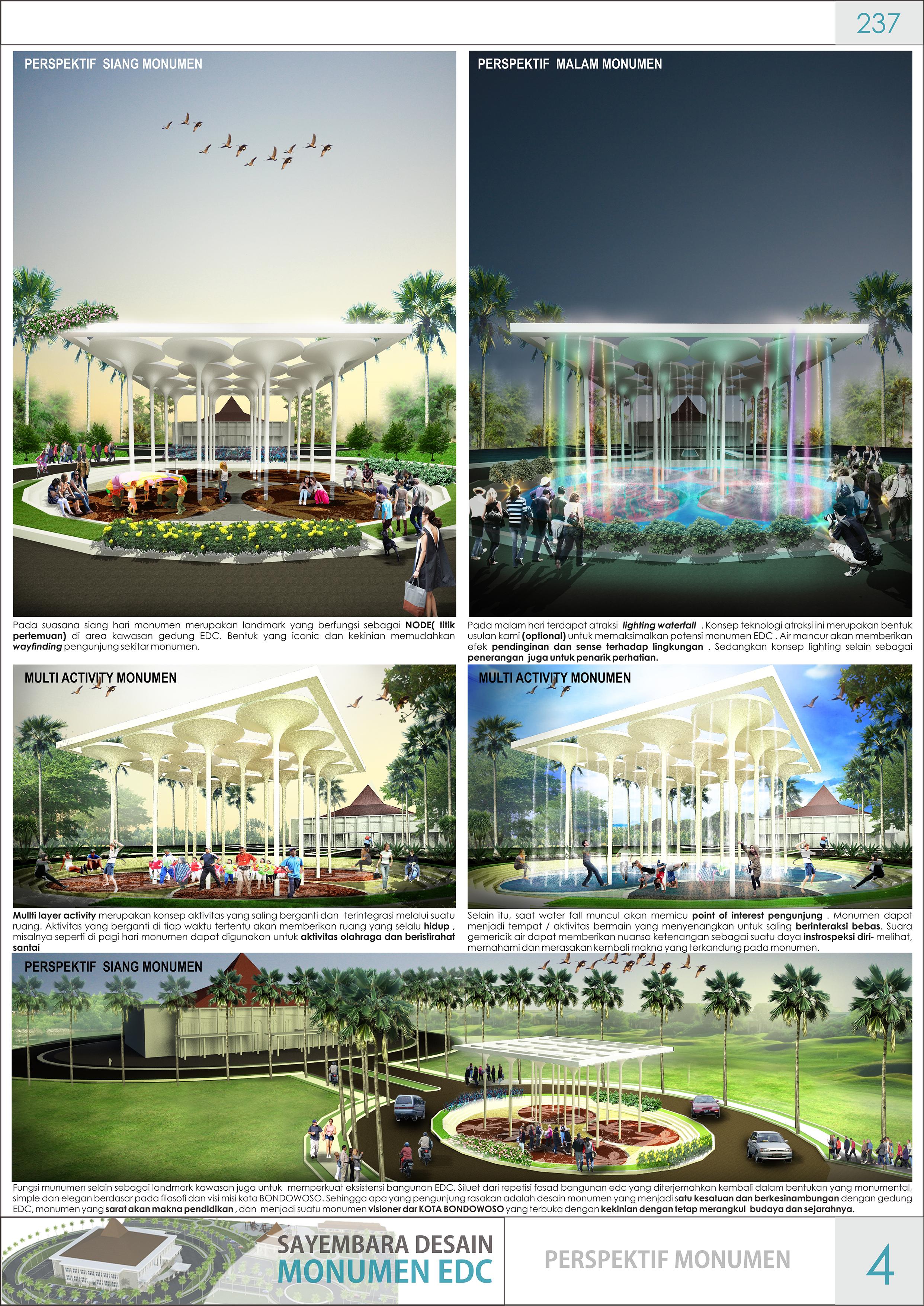SAYEMBARA MONUMEN EDC BONDOWOSO by Eka Prasidhanta at Coroflotcom