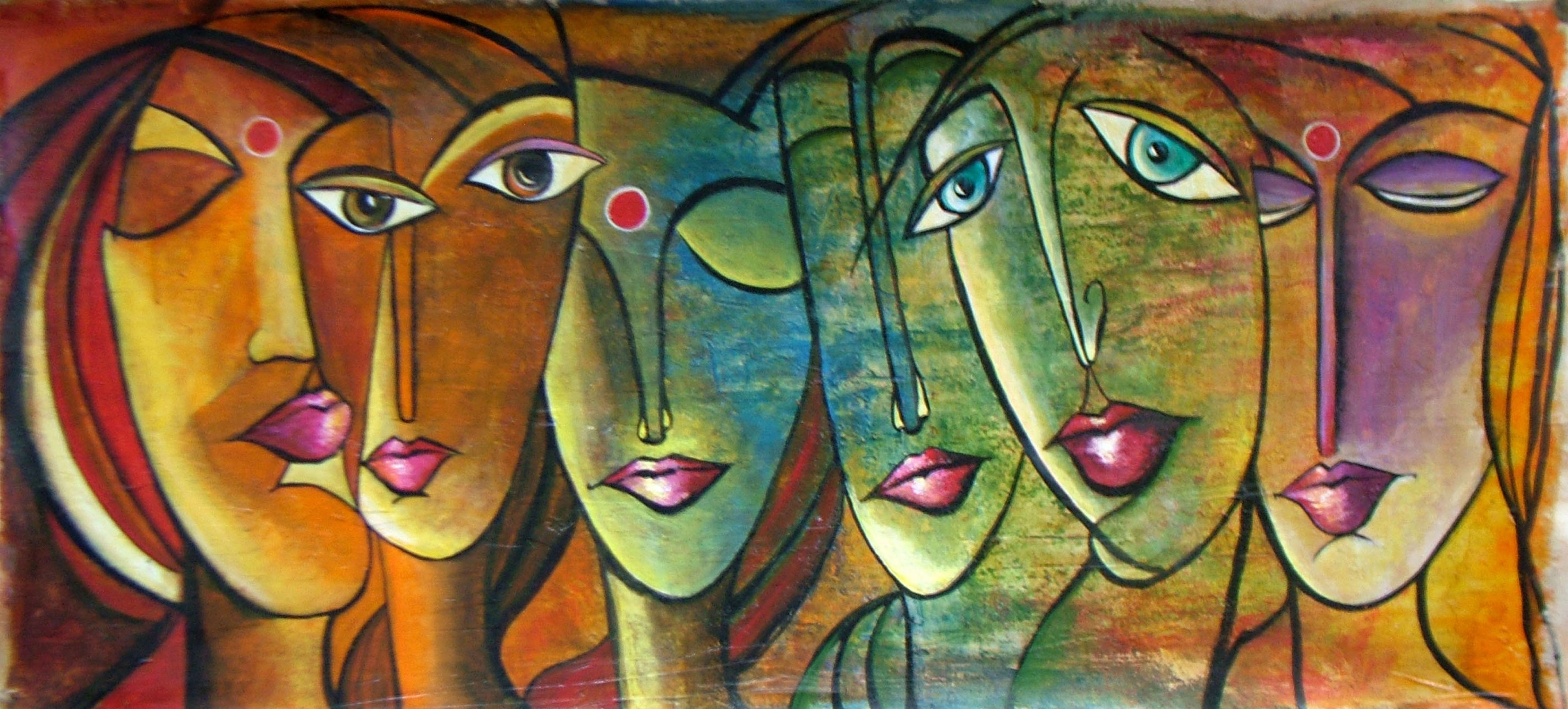 feelings and emotions original painting by neeraj