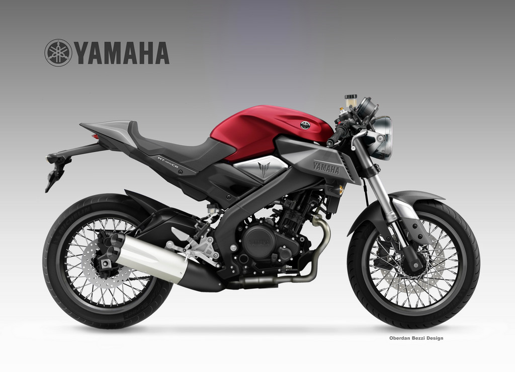 yamaha mt 125 cr by oberdan bezzi at. Black Bedroom Furniture Sets. Home Design Ideas