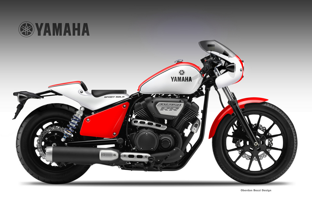 yamaha xv 950 rr sport solo by oberdan bezzi at. Black Bedroom Furniture Sets. Home Design Ideas