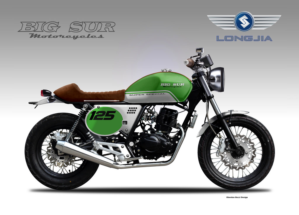 longjia 125 cafe 39 racer by big sur motorcycles by oberdan. Black Bedroom Furniture Sets. Home Design Ideas