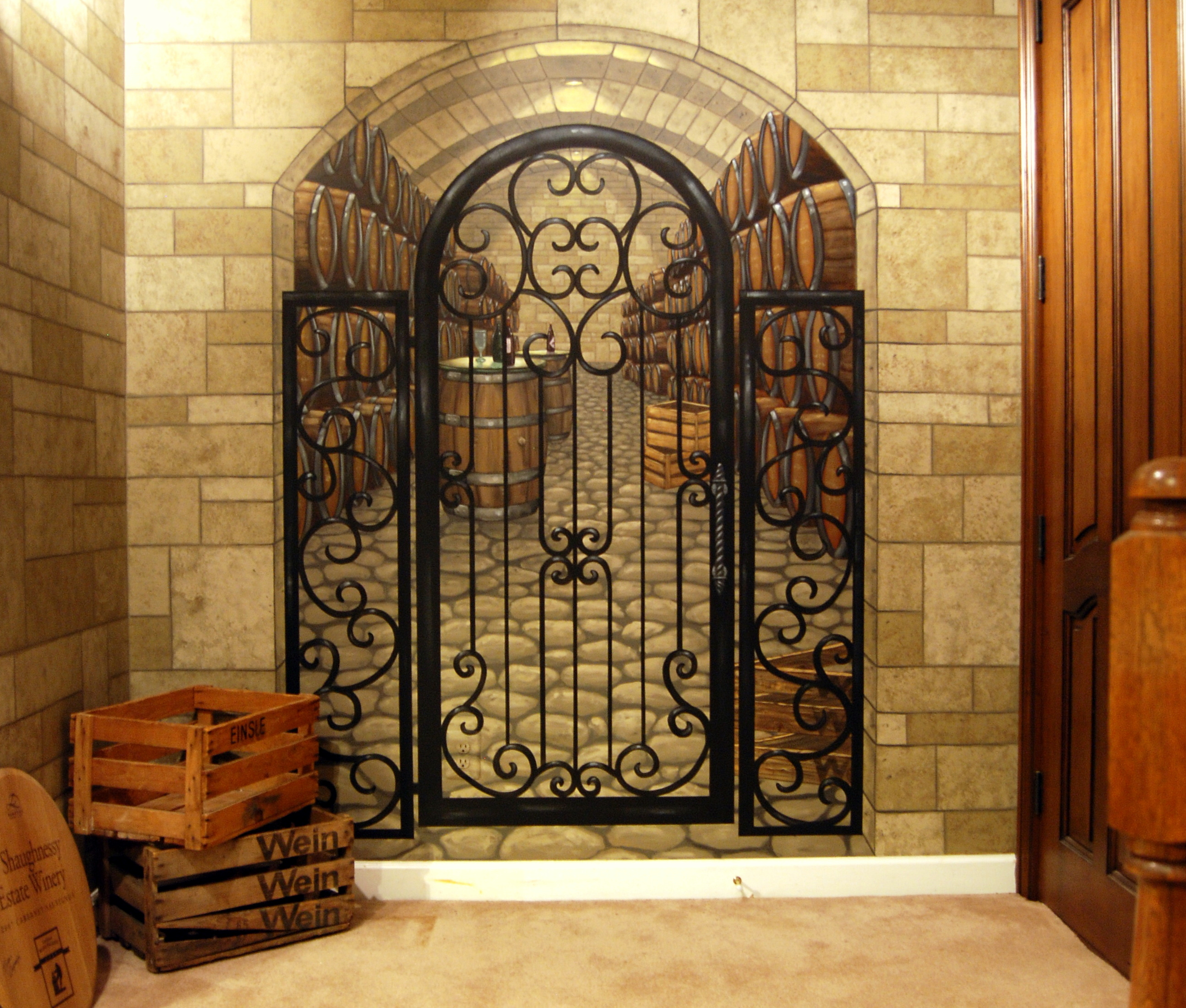 wine cellar mural by mural art llc by tom taylor at coroflot com h favorite qview full size