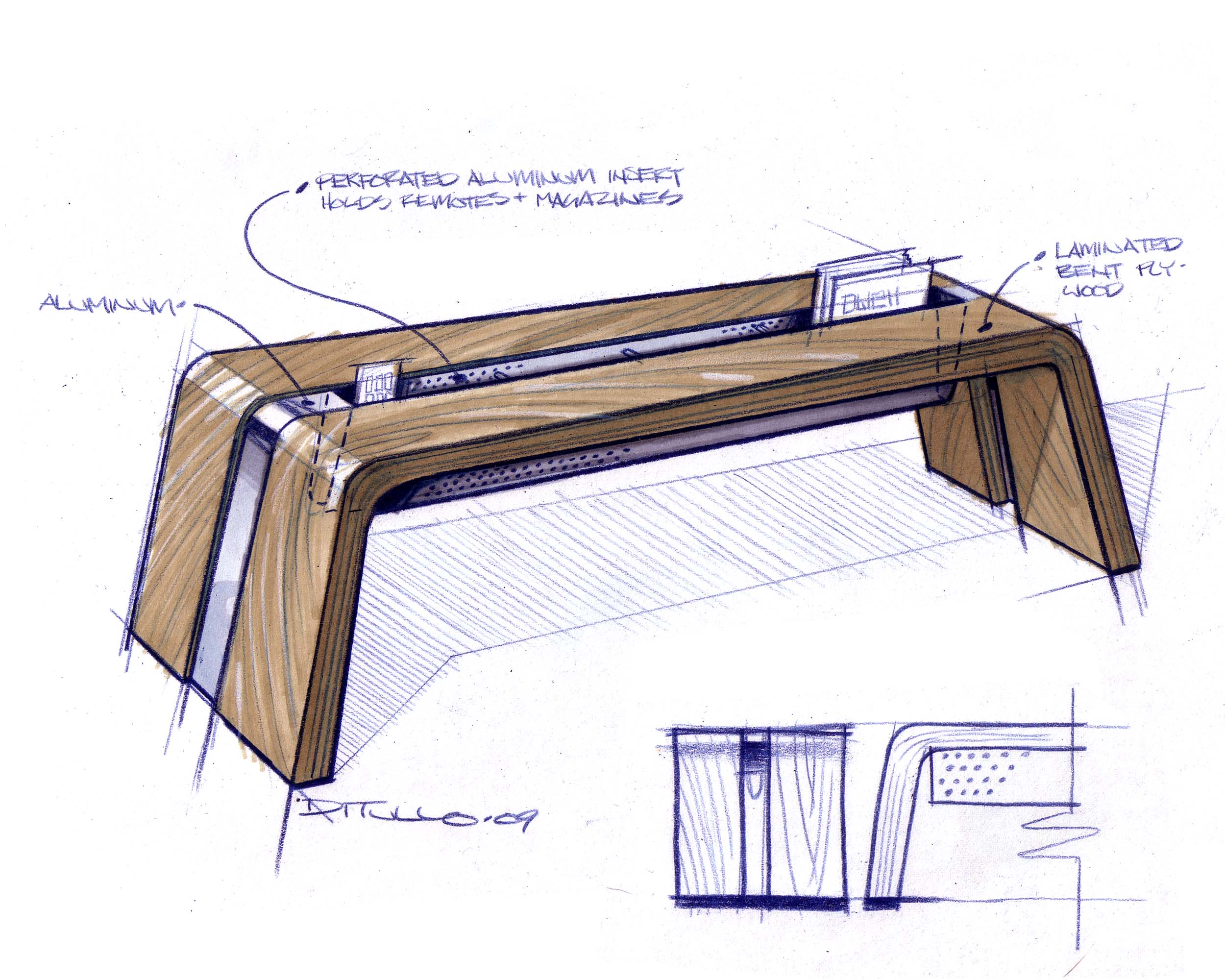 table design sketches