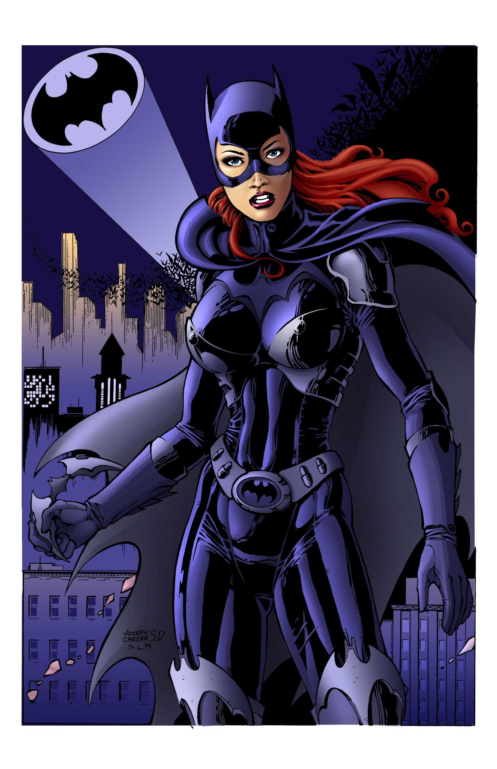 Batgirl - Colored in Photoshop.