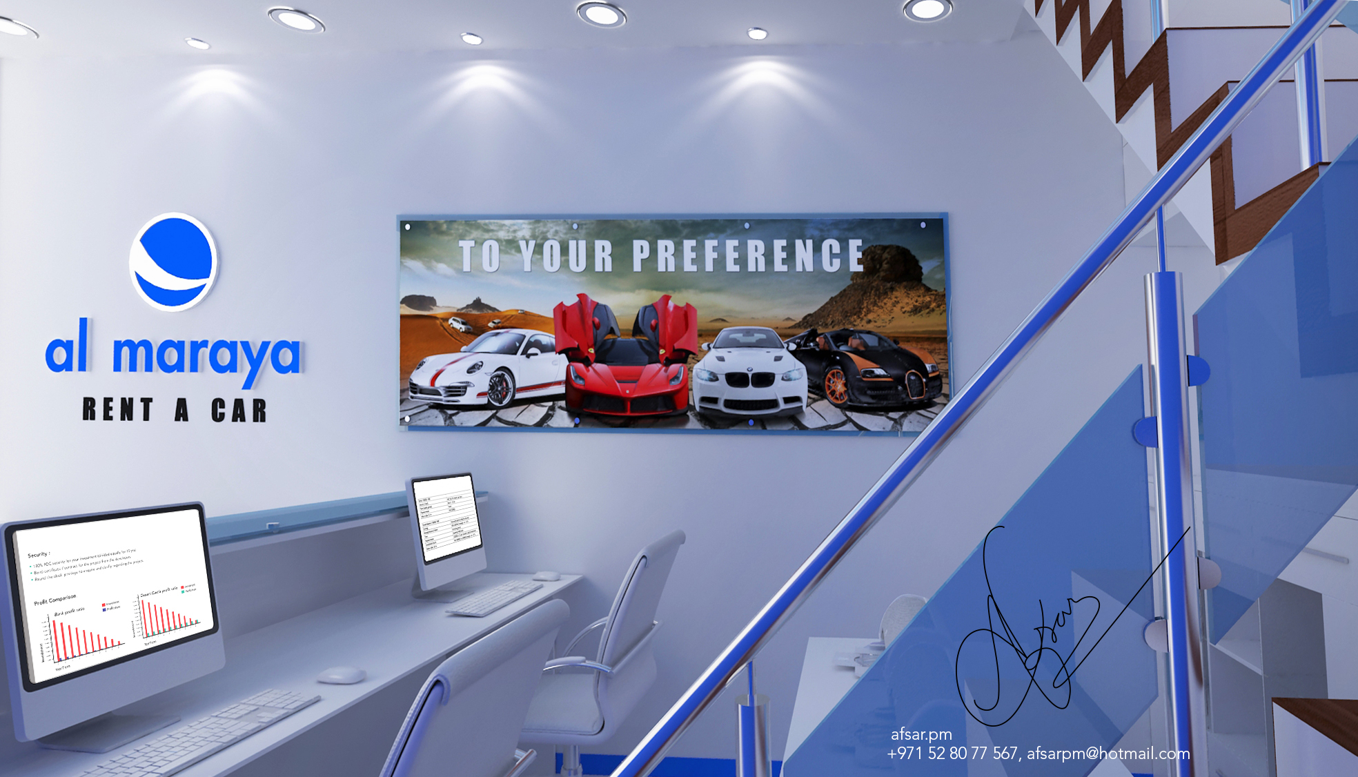 Exhibition Stand For Rent Dubai : Al manara rent a car by afsar p m at coroflot