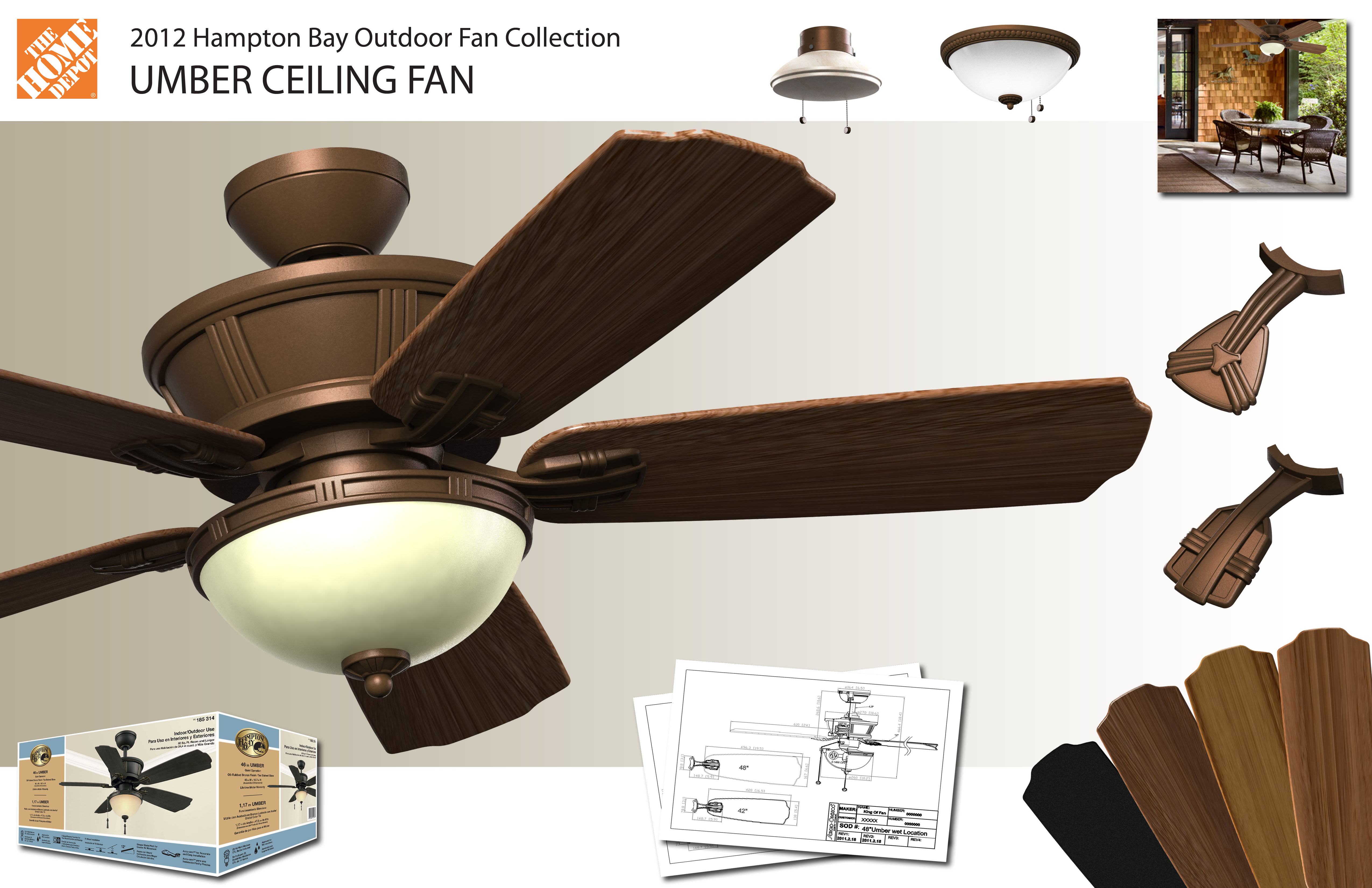 hampton bay umber ceiling fan by francisco biancuzzo at