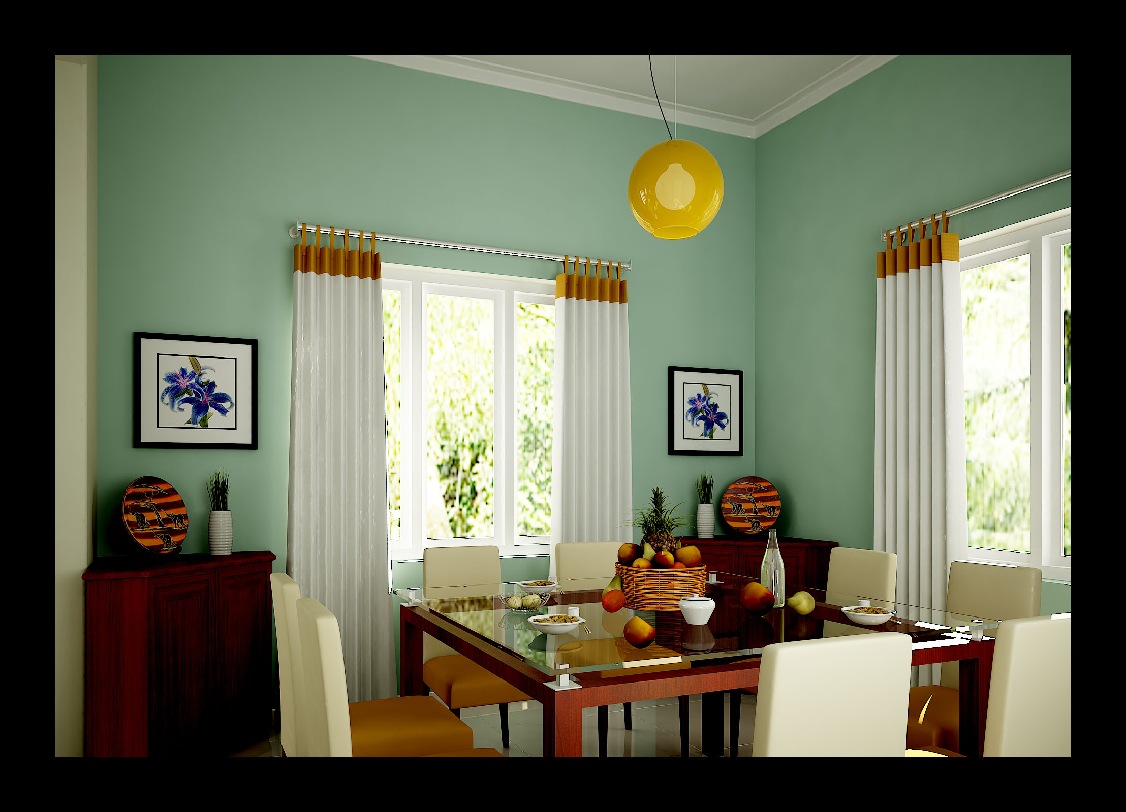 Residential interior by naseem rahman at for Dining hall wall design