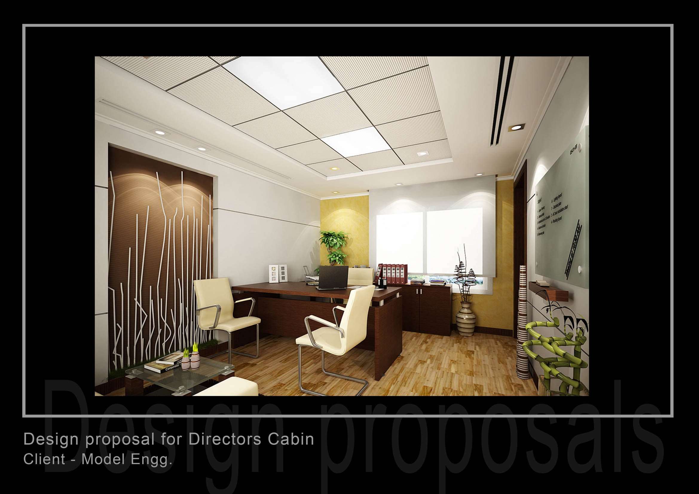 Office interior by naseem rahman at for Contemporary theme in interior design