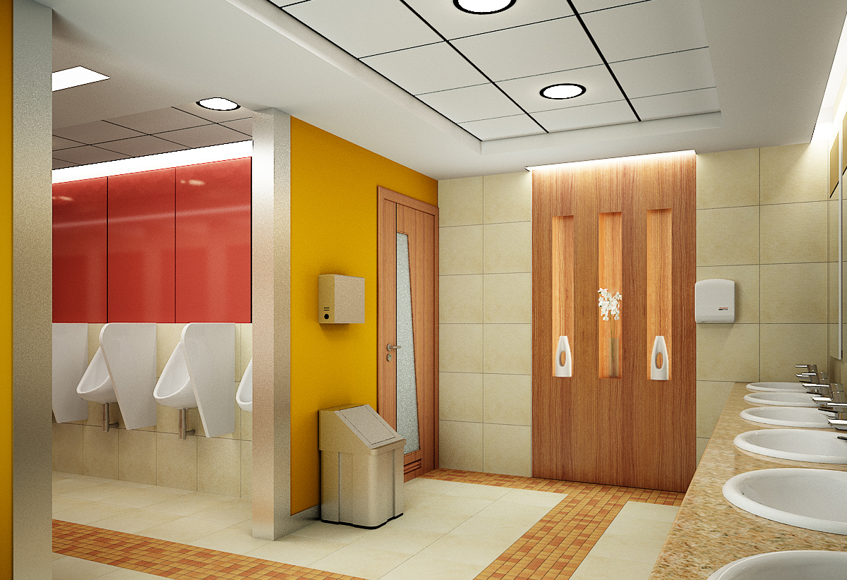 Amazing 10 office washroom design decorating inspiration for Washroom design