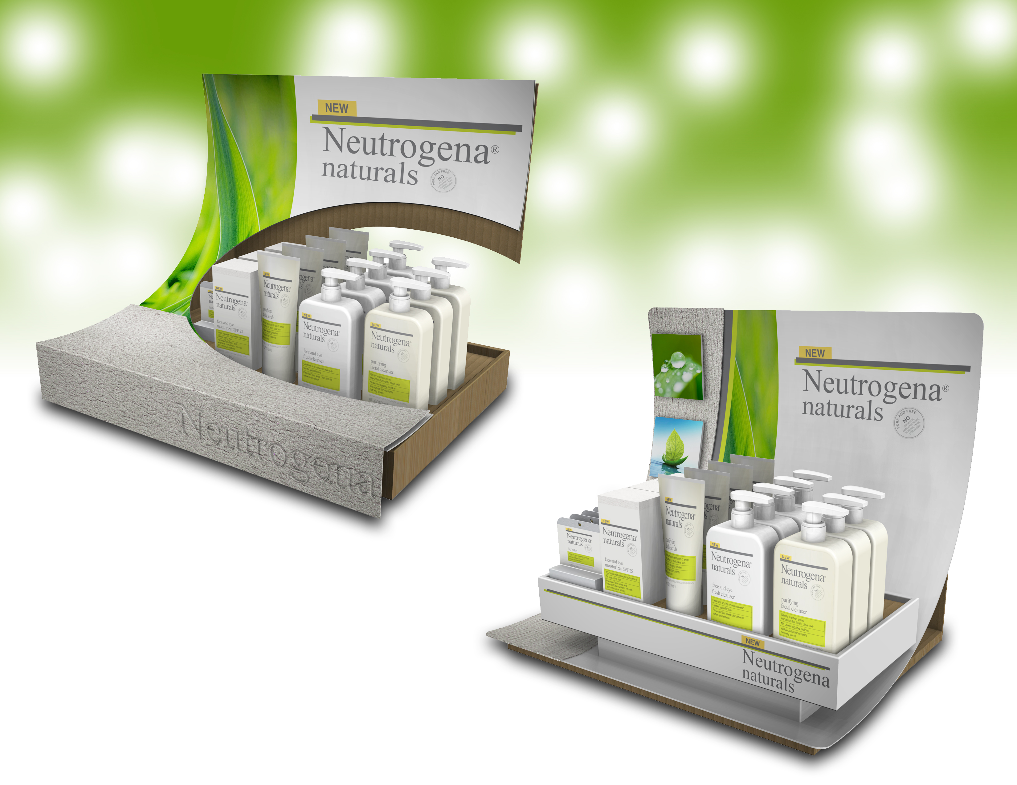 Neutrogena Naturals Launch Displays By Chad Buske At