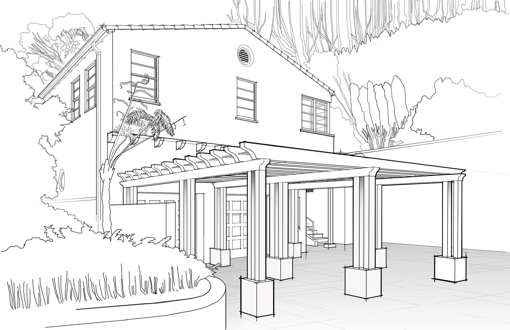 Line Art Images Of Houses : House line drawing images frompo