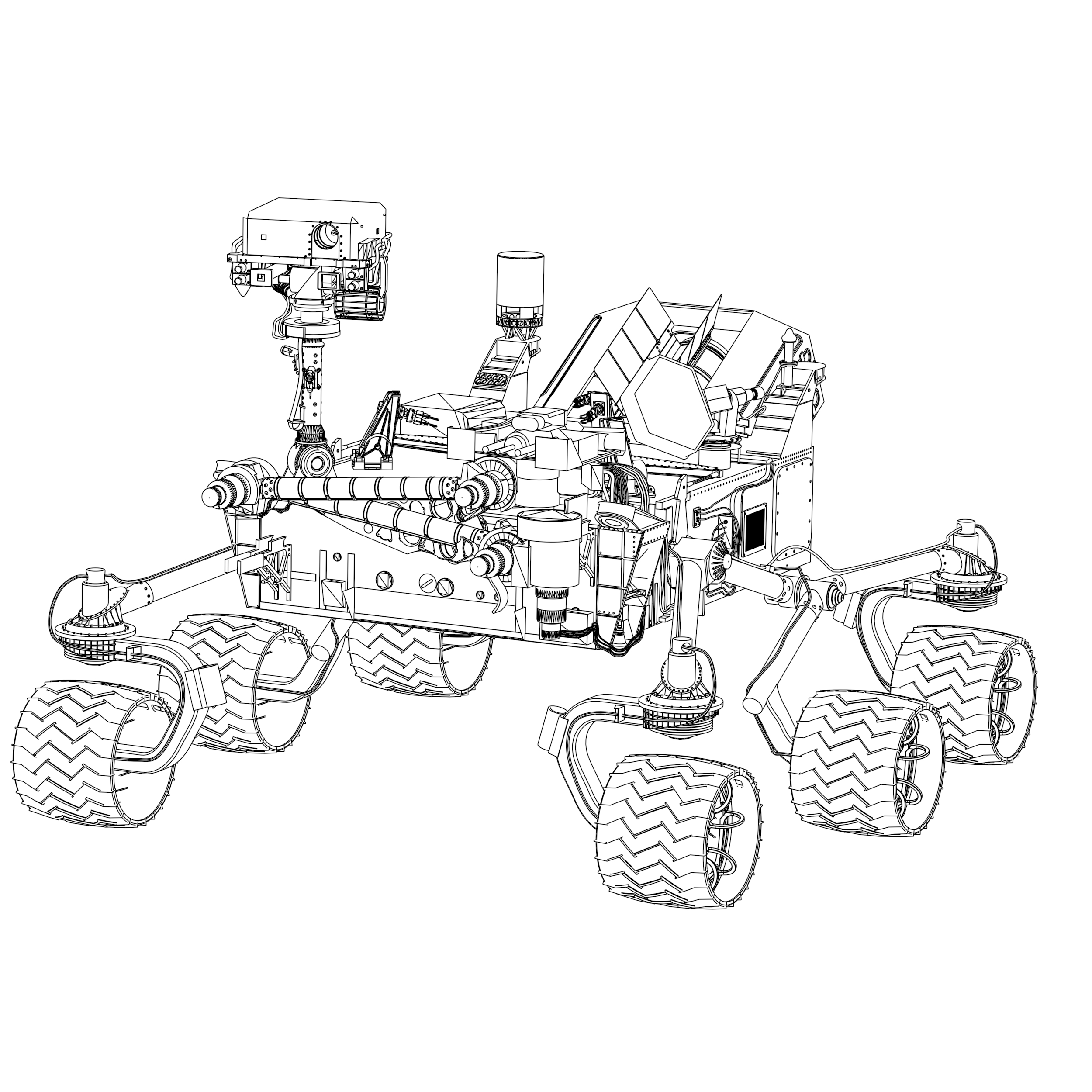 mars curiosity rover technical drawing - photo #7