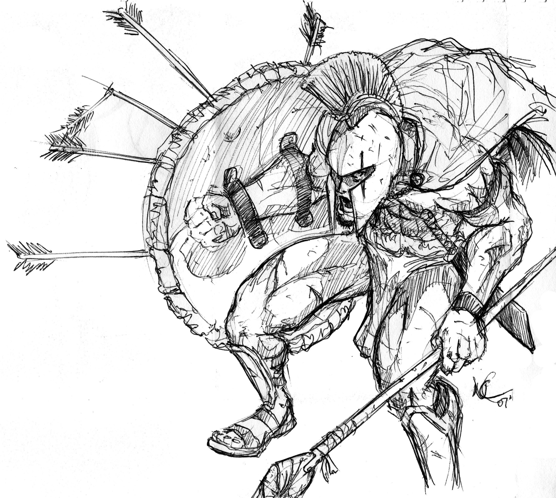 Image Gallery spartan drawings